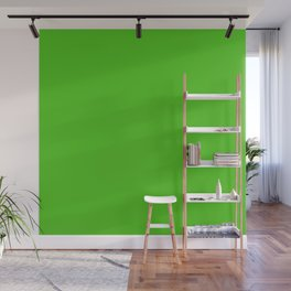 Solid Granny Green Apple Color Wall Mural