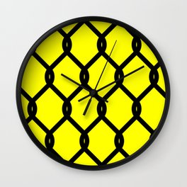 Chain-Link Fence (from Design Machine archives) Wall Clock