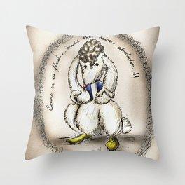 Mes lapins: Como en un flash!!.. Throw Pillow
