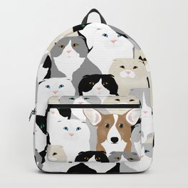 Cats and Dog Backpack
