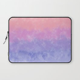 Artsy lavender pink coral watercolor ombre brushstrokes Laptop Sleeve