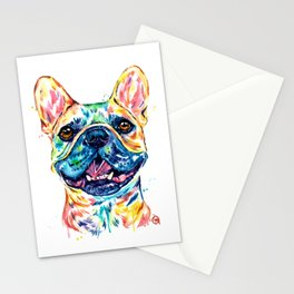 French Bulldog Watercolor Painting By Lisa Whitehouse Stationery Cards