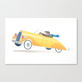 Yellow Roadster Canvas Print