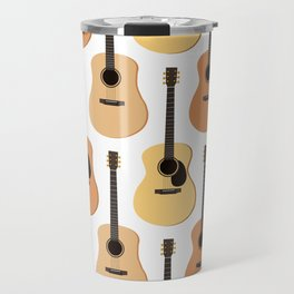 Acoustic Guitars Pattern Travel Mug
