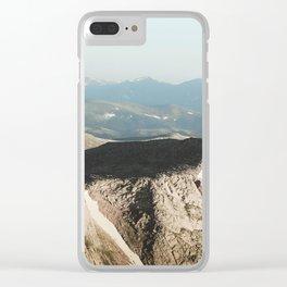 Mount Evans Summit Clear iPhone Case