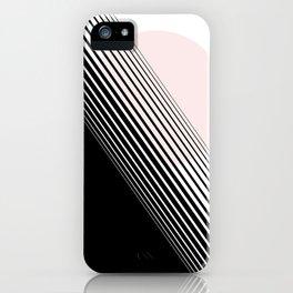 Rising Sun Minimal Japanese Abstract White Black Blush Pink iPhone Case