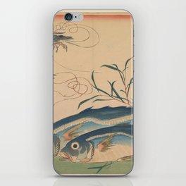 Horse Mackerel with Shrimp or Prawn iPhone Skin