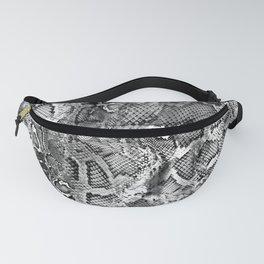 Black & White Snakeskin  Fanny Pack