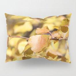 Late Fall Hawthorn Leaves Pillow Sham