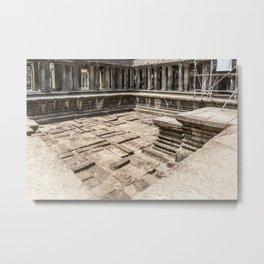 Angkor Wat Pool, Cambodia Metal Print