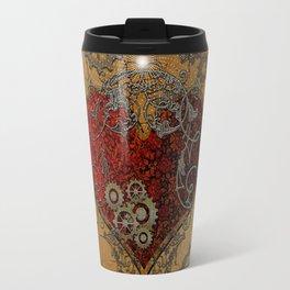 Steampunk, awesome heart  Travel Mug