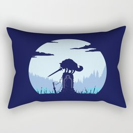 Grey Wolf Sif (Dark Souls) Rectangular Pillow