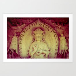 Fire Within. Hong Kong deity Art Print