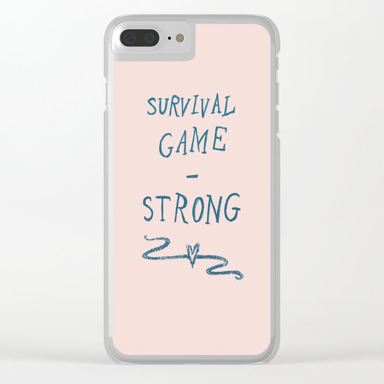 Survival - Strong Clear iPhone Case