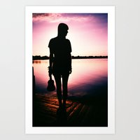 sister Art Prints featuring Sister by Zac Thompson