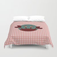 crab Duvet Covers featuring Crab by Mr and Mrs Quirynen
