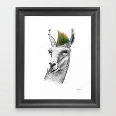 Llamahawk Framed Art Print