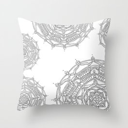 Well Being on White Background Throw Pillow