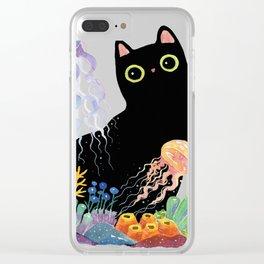the Aquarium Cat _ Jellyfish Clear iPhone Case