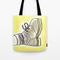 shoe Tote Bags featuring shoe by yayanastasia