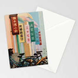 Bicycle Shadows Stationery Cards