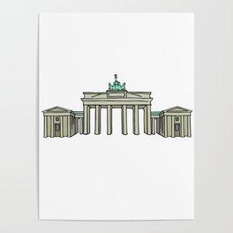 Brandenburg Gate in Berlin Poster