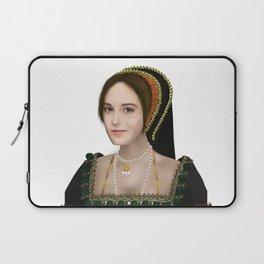 Anne Boleyn painting - on transparent background Laptop Sleeve