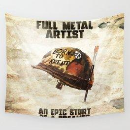 Full metal artist Wall Tapestry