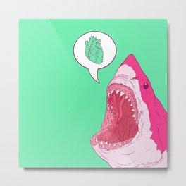 Shark Love Metal Print