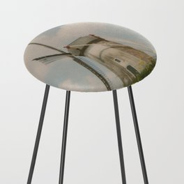 A mill in rural The Netherlands Counter Stool