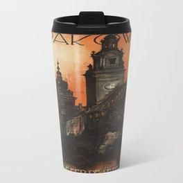 Vintage poster- Krakow Travel Mug