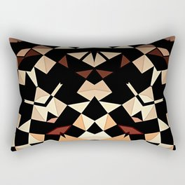 Patchwork Half Mandala Neutral Tones Rectangular Pillow