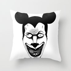 Maniac Mickey Throw Pillow