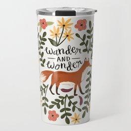 Fox and Flowers - Wander and Wonder Travel Mug