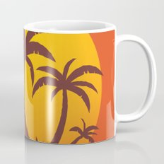 Palm Trees And Summer Sunset Mug
