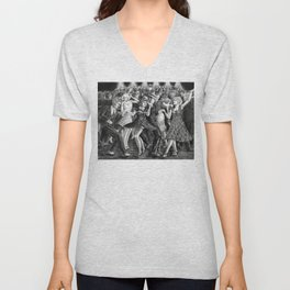 Boogie Woogie - charcoal drawing Unisex V-Neck