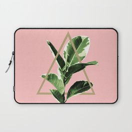 Ficus Elastica Geo Finesse #1 #tropical #foliage #decor #art #society6 Laptop Sleeve