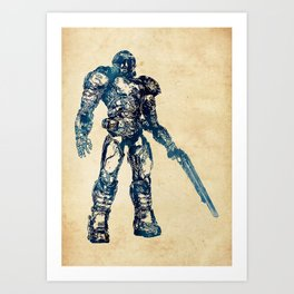 Doom Marine Art Print
