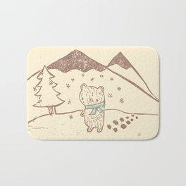 Polar Bear Takes a Walk Bath Mat