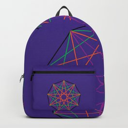 Nonagon Triad Violet Backpack