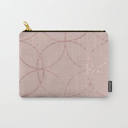 Fire Spark rose gold blush Carry-All Pouch