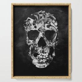 Vintage Skull BW Serving Tray