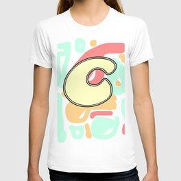 Alphabet Initial C Monogram T-shirt