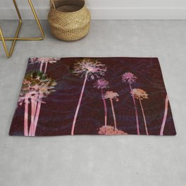 day glo: cosmic florals Rug