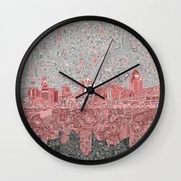 cincinnati city skyline Wall Clock