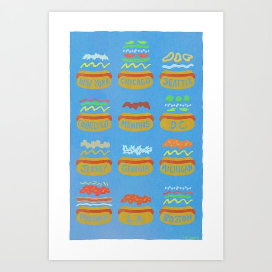 Hot Dogs! Re-do Art Print