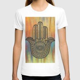Colorful Golden Hamsa Hand T-shirt