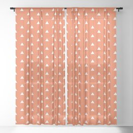 dotted pattern variation with triangles Sheer Curtain