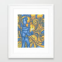 saxophone Framed Art Prints featuring Saxophone by tempehmonster