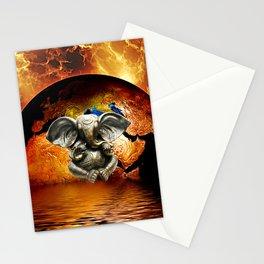 Elephant Ganesha and Earth Stationery Cards